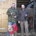 Dave and Michal made a couple of fine knives in a long weekend.   Saxen didn't seem so impressed!