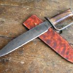 A large bowie knife for those wild west folks. Not a style I do ften but have produced blades for many Wild West reenactors to fit up themselves