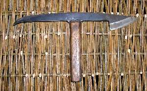 Tybil or Morticing Knife. Used to make and tidy up mortices in hurdle fences, etc